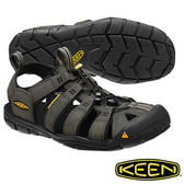 Keen Clearwater CNX Leather 男 輕量護趾水陸兩用鞋  深灰 1013107