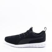 PUMA  輕量 透氣 舒適氣墊鞋墊 女慢跑鞋-黑/白 190038-04