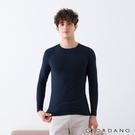 【GIORDANO】 男裝G-Warmer彈力圓領極暖衣 - 03 標誌海軍藍