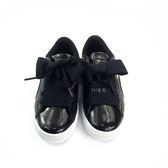 中童PUMA Basket Heart Glam 緞帶 輕量休閒 運動鞋 《7+1童鞋》8196黑色