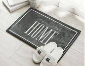 防滑墊/北歐風簡約黑白字母地墊防滑加厚浴室墊子入戶臥室門墊 維多原創