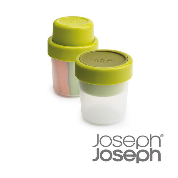 英國 Joseph Joseph 翻轉蔬果點心盒-綠