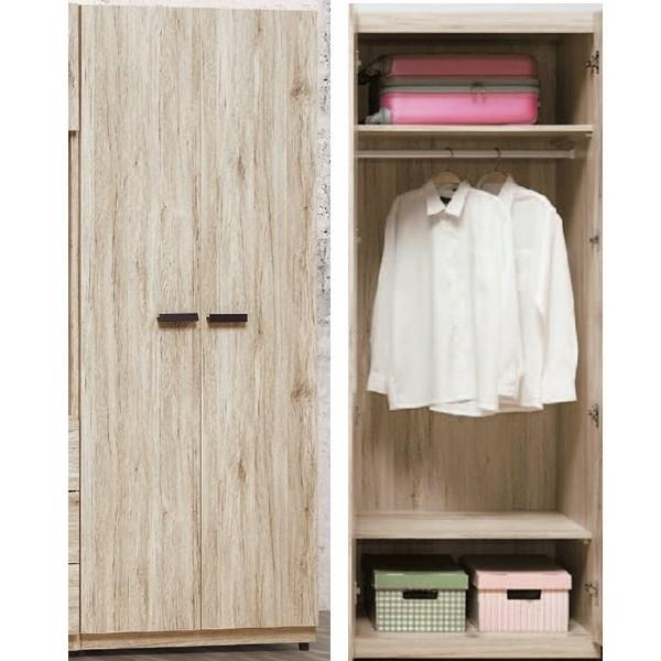 衣櫃 衣櫥 BT-27-8 威力橡木色2.5尺單吊衣櫥【大眾家居舘】