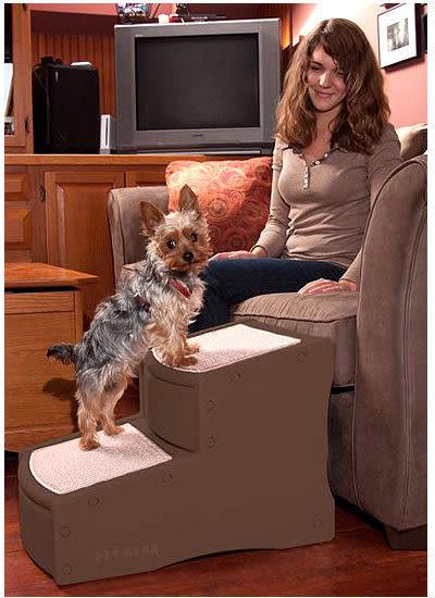 *WANG*美國Pet Gear 寵物《PG9710 易步二階樓梯-小》止滑地墊材質堅固 (CH-巧克力/LC-可可亞)
