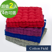棉花田【新亞瑟】仿麂皮立體胖胖坐墊-4色可選(二件組)紫色