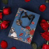 春季上新 玫瑰獨角獸禮袋包裝袋復古清新手提禮物袋禮品袋紙袋喜糖袋送男友