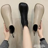 娃娃鞋 馬丁靴女英倫風秋冬新款方頭棉鞋小短靴娃娃頭丑萌瘦瘦靴 萊俐亞 交換禮物