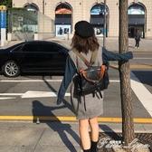 四種背法!TMBHZ質感超好 女書包自制多功能皮單肩包側背包雙肩包 中秋節全館免運