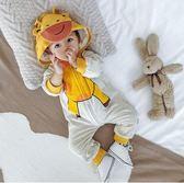 嬰兒連體衣秋冬裝0一1歲新生衣服女6-12個月加絨保暖男寶寶外出服 時光之旅