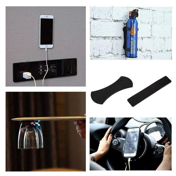 超黏【萬能膠墊】2入 手機平板隨手貼神奇膠墊 手機支架  奈米黏膠墊 水洗萬能牆貼  魔力貼