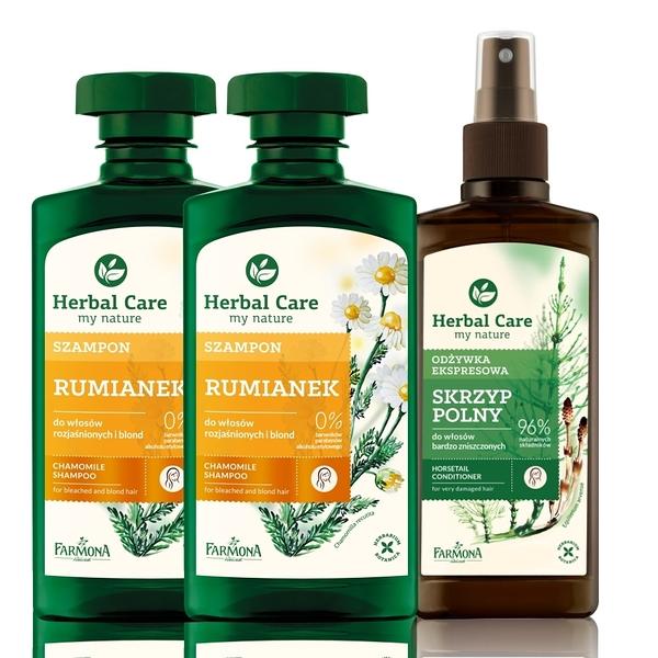 Herbal care 波蘭植萃 - 草本護色順髮洗護3入組 (洗髮露/順髮噴霧)