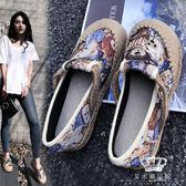 娃娃鞋 平底韓版百搭漁夫鞋淺口圓頭可愛休閒鞋 艾米潮品館