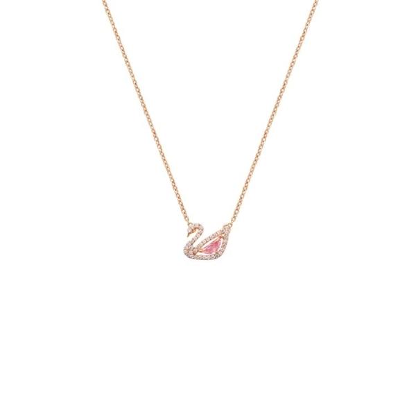 粉色天鵝項鏈女網紅時尚氣質鎖骨鏈韓版個性創意簡約ins學生潮【快速出貨】