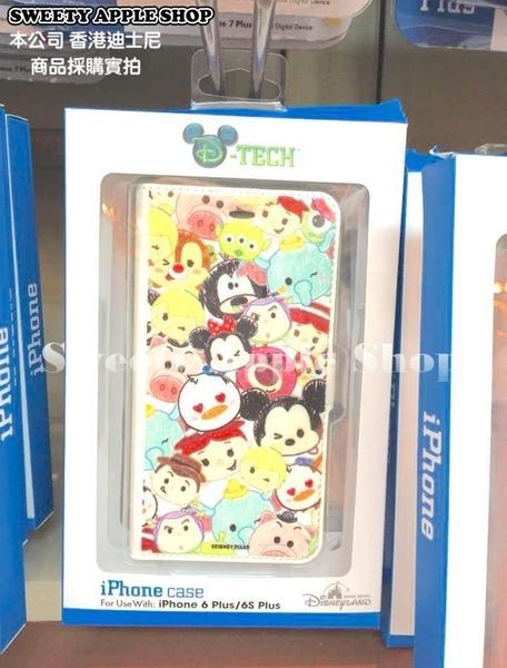 (現貨&樂園實拍) 香港迪士尼限定 TSUM TSUM 迪士尼家族  iphone 6 plus / 6S plus 對應 掀蓋式手機殼套