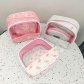 韓國可愛小清新收納包火烈鳥透明防水大容量便攜旅行化妝包洗漱包     時尚教主