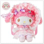 小花花  ~Hello Kitty 40 周年美樂蒂絨毛娃娃女僕玩偶後背包迷宮花園玫瑰50067701