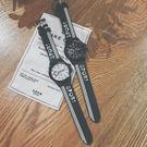 韓國原宿bf風韓版簡約休閑男女情侶手錶中學生青少年潮流