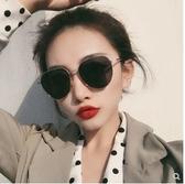 韓國潮網紅墨鏡女圓臉方圓形偏光太陽鏡街拍防紫外線遮陽男士眼鏡 雙十一全館免運