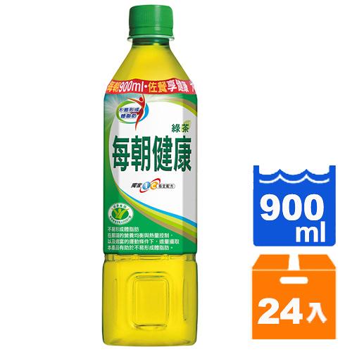 御茶園每朝健康綠茶無糖900ml(12入)x2箱【康鄰超市】
