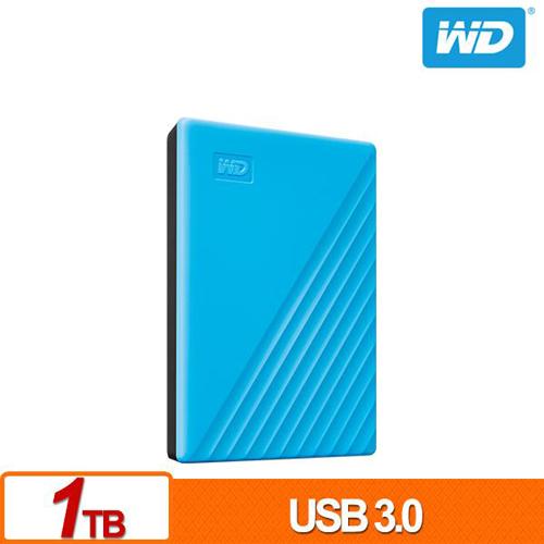(2019新款) WD My Passport 1TB 藍色 2.5吋 USB3.0 外接硬碟 WDBYVG0010BBL-WESN