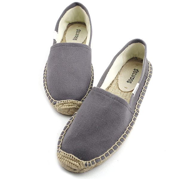美國正品 Soludos 基本素面款草編懶人鞋-深灰色【現貨在台】