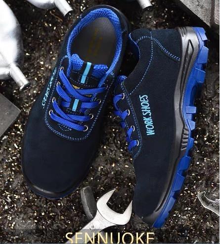 安全鞋 勞保鞋男士工作輕便夏季鋼包頭防砸防刺穿安全電焊工透氣防臭工地  卡洛琳