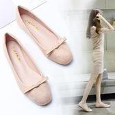 韓版時尚豆豆鞋芭蕾舒適休閒鞋百搭學生氣質女鞋