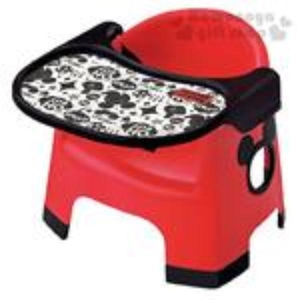 小禮堂 迪士尼 米奇 日本製 兒童餐桌椅 (紅色款) 4904121-30373