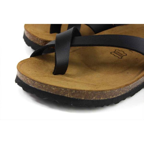 G.P (GOLD PIGEON) 阿亮代言 夾腳拖鞋 黑色 皮質內裡 男鞋 M381-10 no381