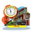 【收藏天地】台灣紀念品專賣*時鐘冰箱貼擺飾-九份山城  磁鐵 送禮 文創