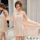 情趣睡衣蕾絲抹胸吊帶真絲綢睡裙睡袍