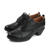 HUMAN PEACE 休閒鞋 皮鞋 黑色 牛皮 女鞋 跟鞋 7888 no387