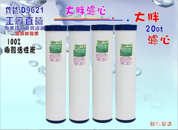 地下水淨水器20吋100%椰殼活性炭濾心.除泥除雜質.水塔過濾.水族濾水器.貨號:D9621【巡航淨水】