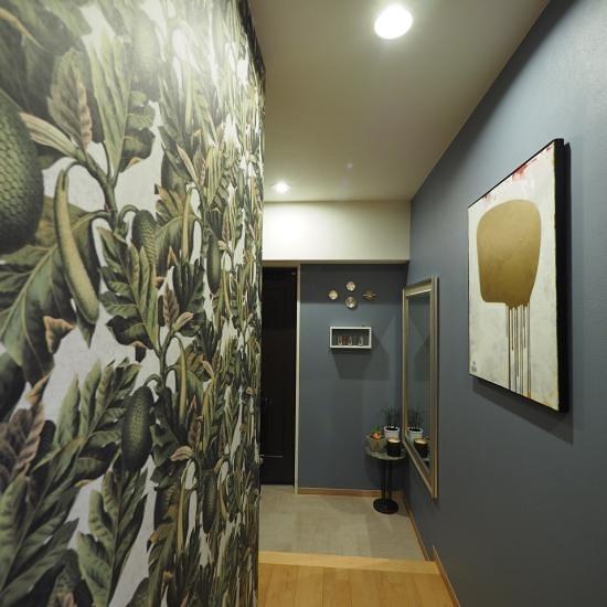 綠色植物 房間牆面 施工案例