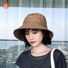 漁夫帽 女士帽子春季時夫今年n流行的新款2021網防紅曬漁尚太陽盆帽百搭 印巷家居