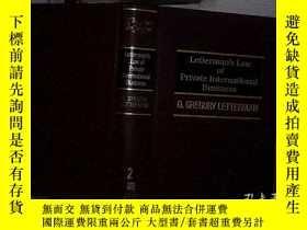 二手書博民逛書店LETTERMAN S罕見LAW OF PRIVATE INTERNATIONAL BUSINESS 2 萊特曼國