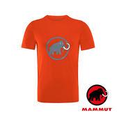 【MAMMUT 長毛象】Mammut Logo 男短袖LOGO圓領T恤『深橙』1041-07290 吸濕排汗快乾 排汗衫