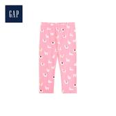 Gap女嬰兒印花彈力針織內搭褲497565-玫瑰粉