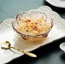 甜品碗 日式金邊櫻花玻璃碗北歐燕窩碗糖水銀耳湯碗盅雪糕創意沙拉甜品碗【快速出貨八折下殺】