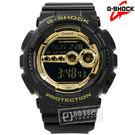 G-SHOCK CASIO / GD-100GB-1 / 卡西歐菱格壓紋強悍亮眼運動電子橡膠手錶 金x黑 50mm