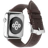 錶帶洽利 apple watch3錶帶真皮商務iwatch2 38/42mm蘋果手錶簡約錶帶 野外之家