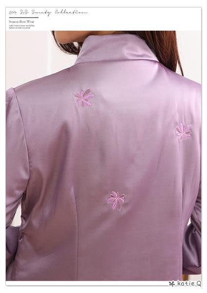 雅緻品味刺繡外套(2色)-F--KatieQ
