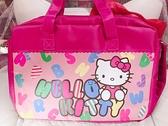 ♥小花花日本精品♥Hello kitty凱蒂貓滿版字母圖案桃色手提袋-手提包肩背包補習袋筆電袋 42065500