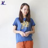 【秋冬降價款】American Bluedeer - 潮風文字T恤(魅力價) 秋冬新款