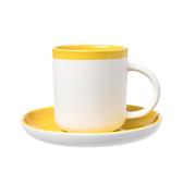 La Cafetiere 風格杯碟組 黃色