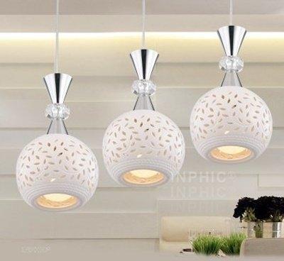 INPHIC首選燈具-現代簡約餐廳吊燈/LED個性創意單頭吊燈/田園飯廳臥室吧臺吊燈/陶瓷吊燈