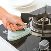 ✭慢思行✭【N436】強力去污三角刷 洗鍋 海綿清潔刷 鍋子去汙 玻璃清潔 磁磚 方便 快速