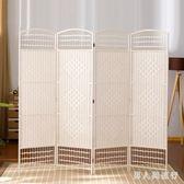 簡易屏風 隔間櫃草編折疊玄關隔斷現代隔斷中式折屏 DR27296【男人與流行】