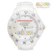 日本限定 角落生物 家族排排坐版 矽膠 兒童 手錶 / 腕錶 (白款)