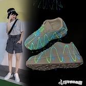 發光鞋-夜光百搭小白鞋女2020夏季新款韓版學生運動鞋女ins厚底松糕鞋女
